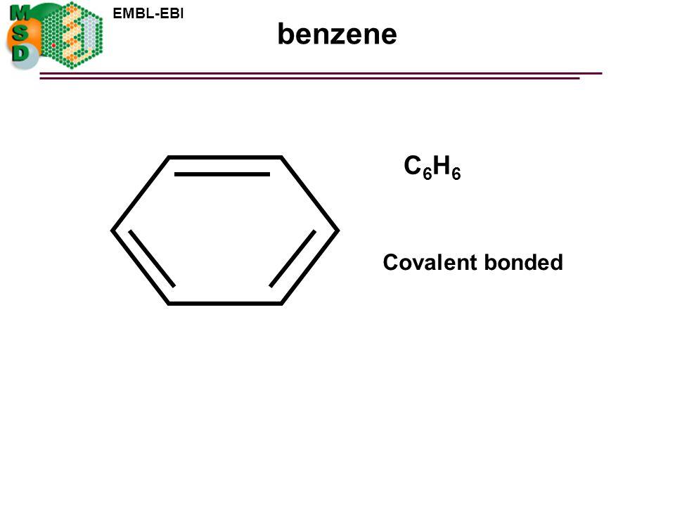 benzene C6H6 Covalent bonded