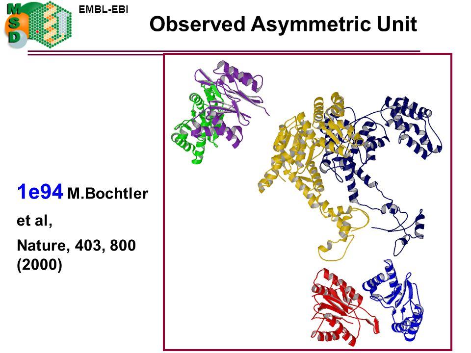 Observed Asymmetric Unit
