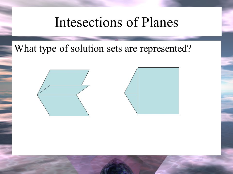 Intesections of Planes