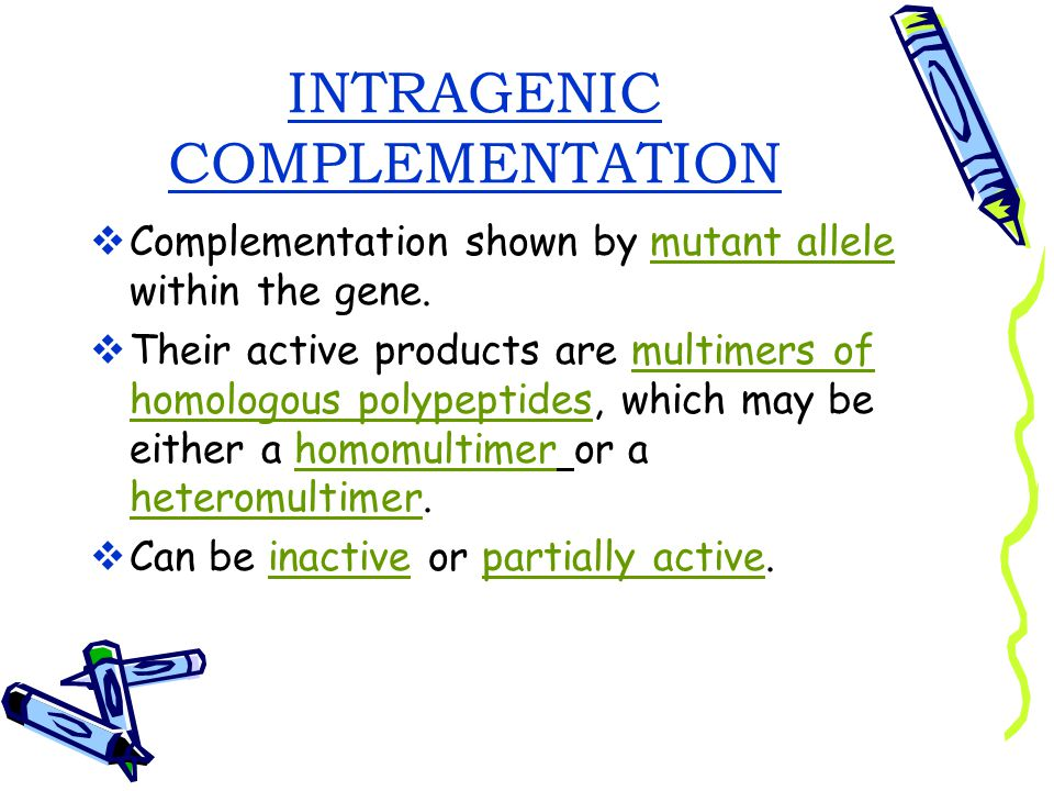 INTRAGENIC COMPLEMENTATION
