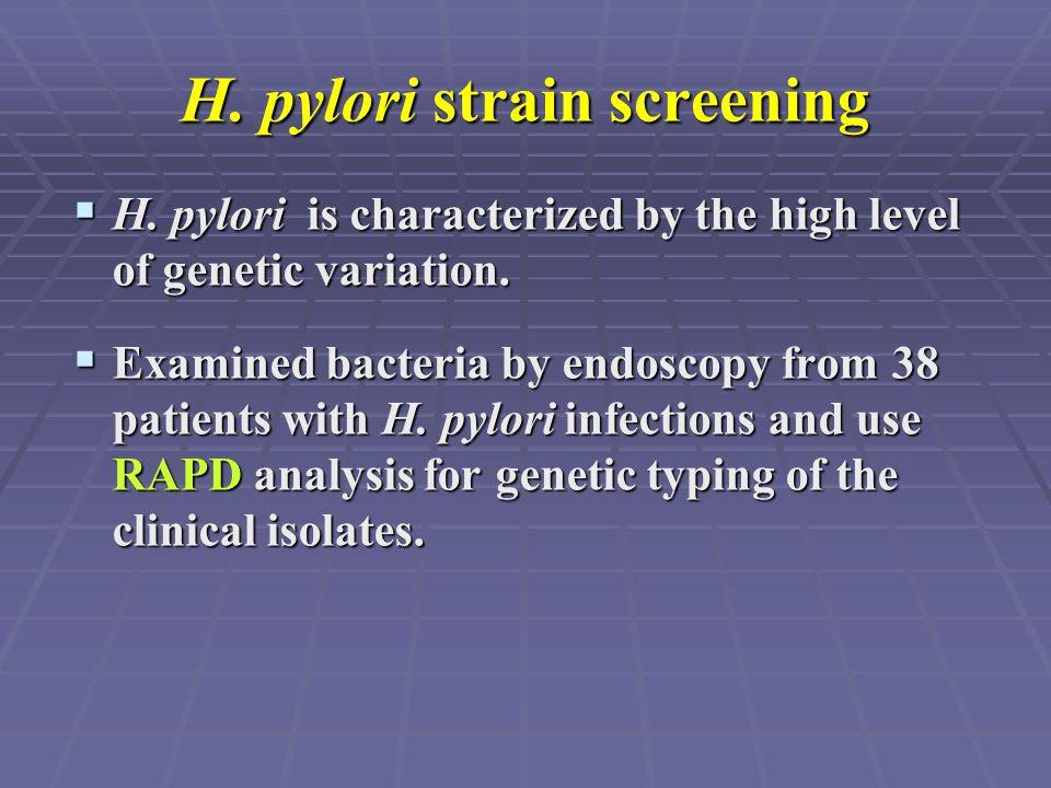 H. pylori strain screening