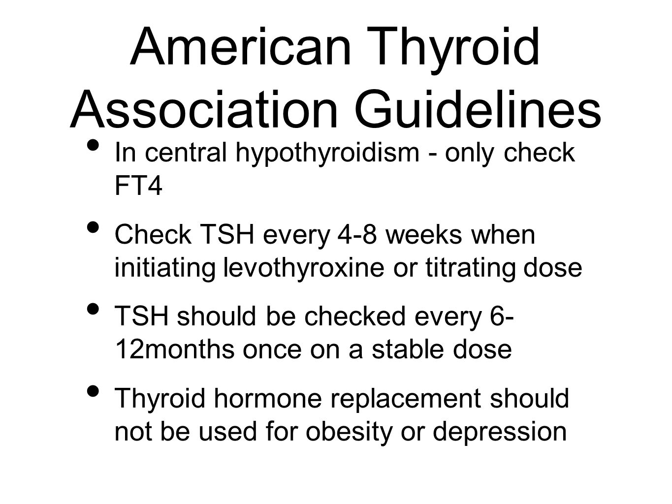 American Thyroid Association Guidelines