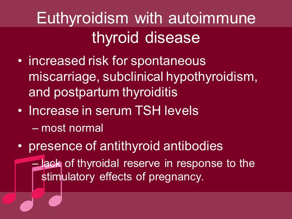 Euthyroidism with autoimmune thyroid disease