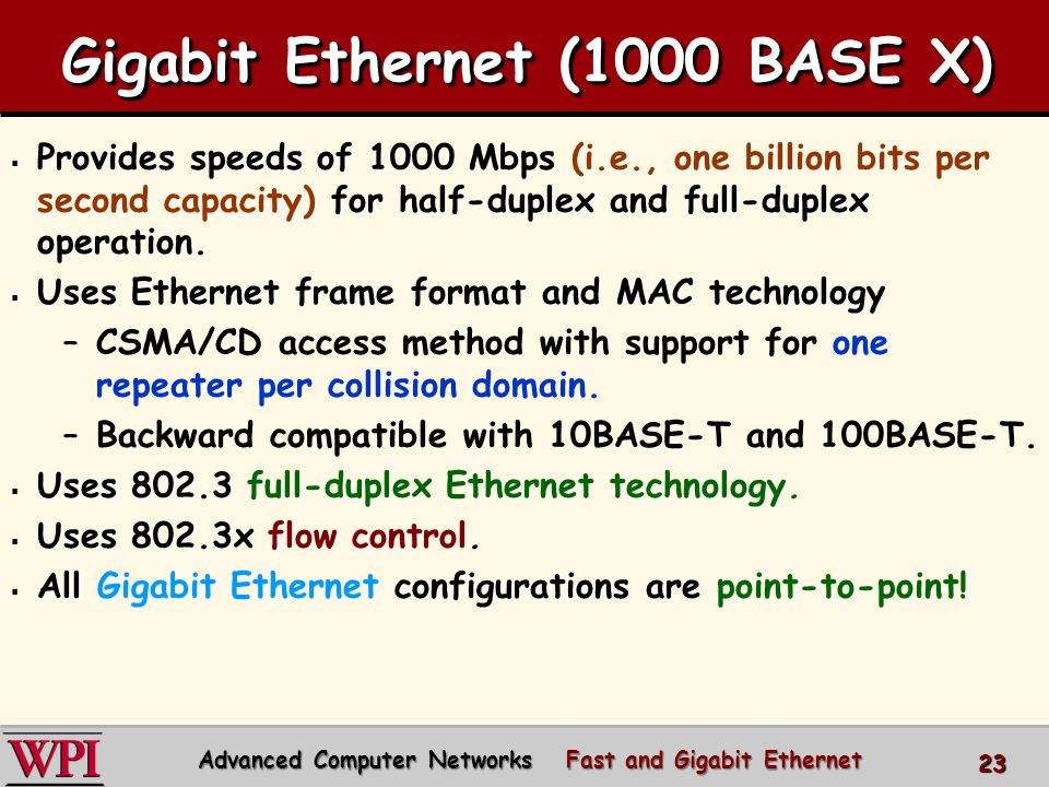Gigabit Ethernet (1000 BASE X)