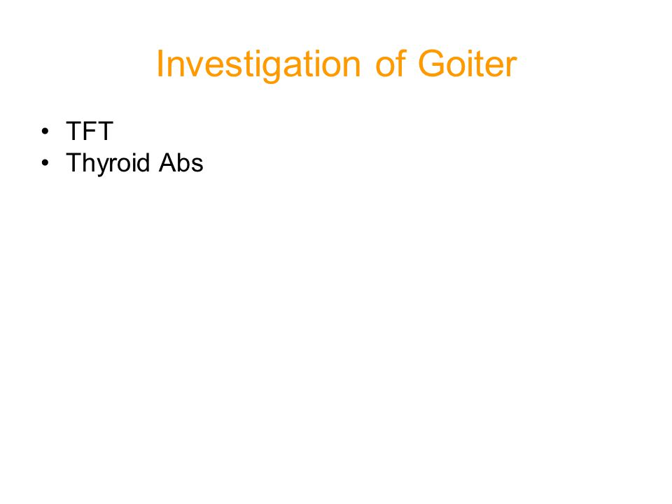 Investigation of Goiter