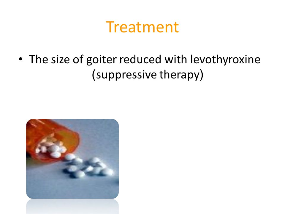 The size of goiter reduced with levothyroxine )suppressive therapy(