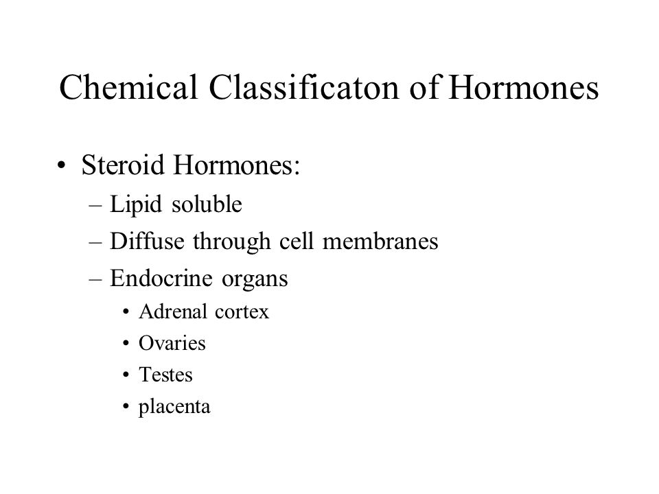 Chemical Classificaton of Hormones