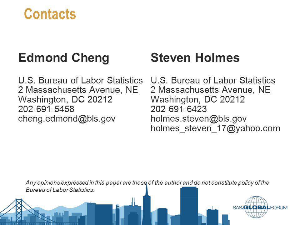 Contacts Edmond Cheng Steven Holmes U.S. Bureau of Labor Statistics