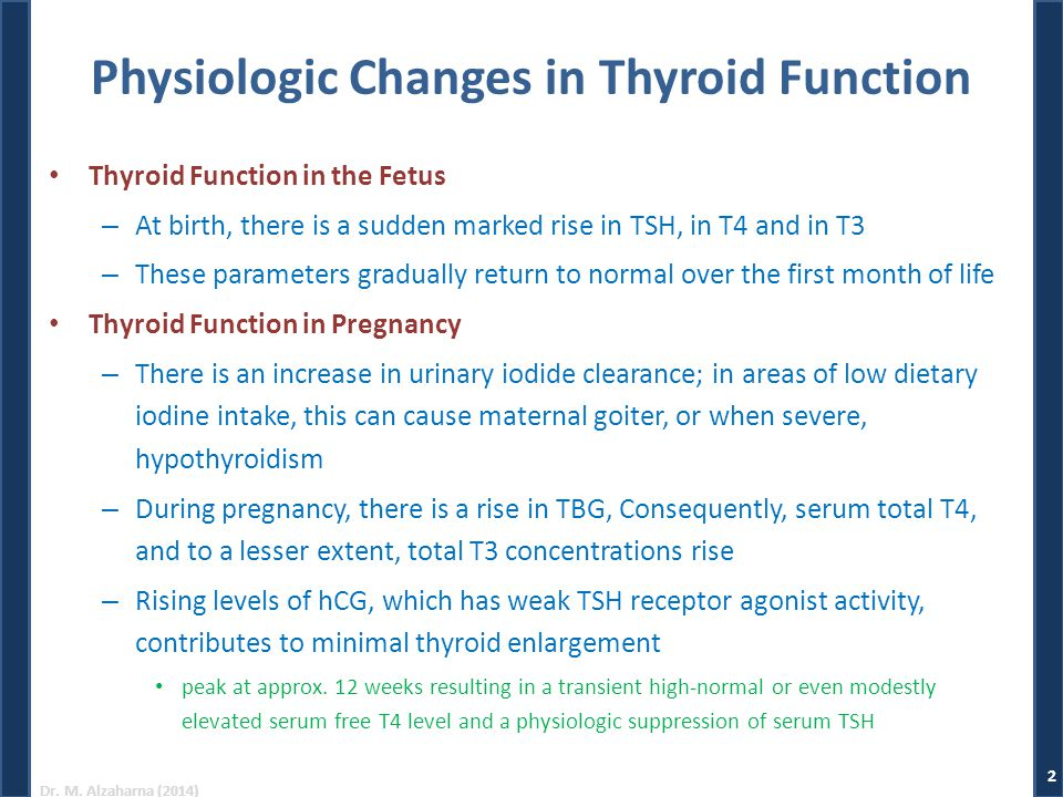 Physiologic Changes in Thyroid Function