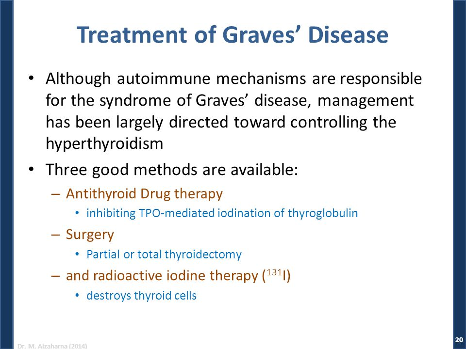 Treatment of Graves' Disease