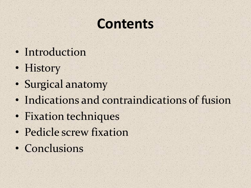 Contents Introduction History Surgical anatomy