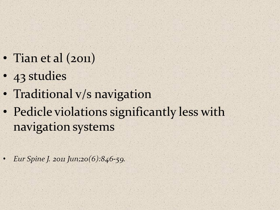 Traditional v/s navigation