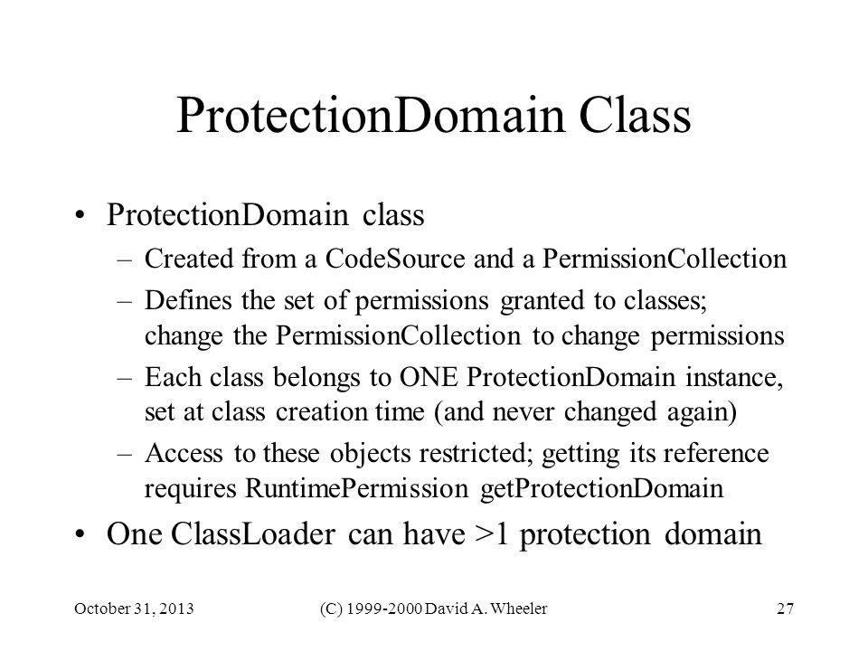 ProtectionDomain Class