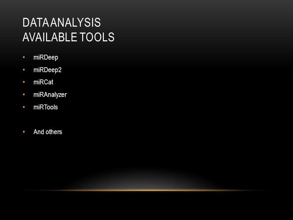 Data Analysis Available Tools