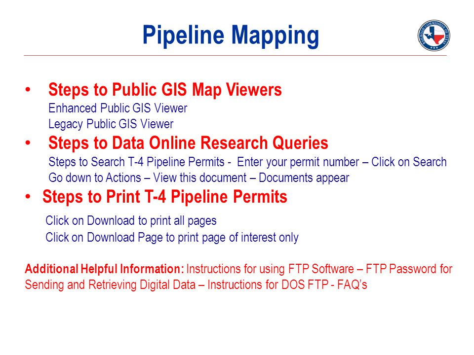 Pipeline Mapping Steps to Public GIS Map Viewers