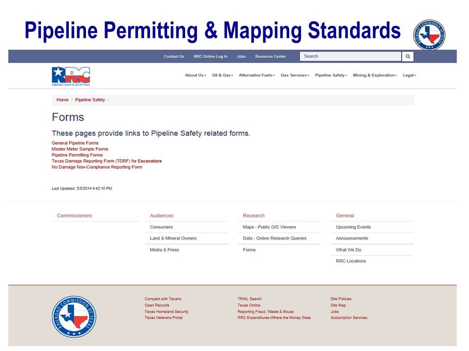 Pipeline Permitting & Mapping Standards