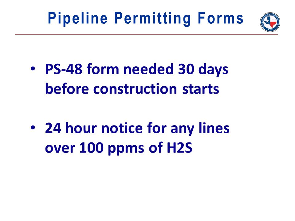 Pipeline Permitting Forms