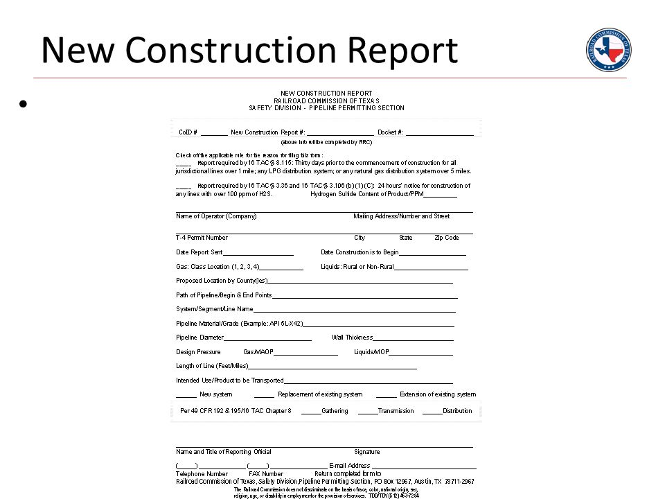 New Construction Report