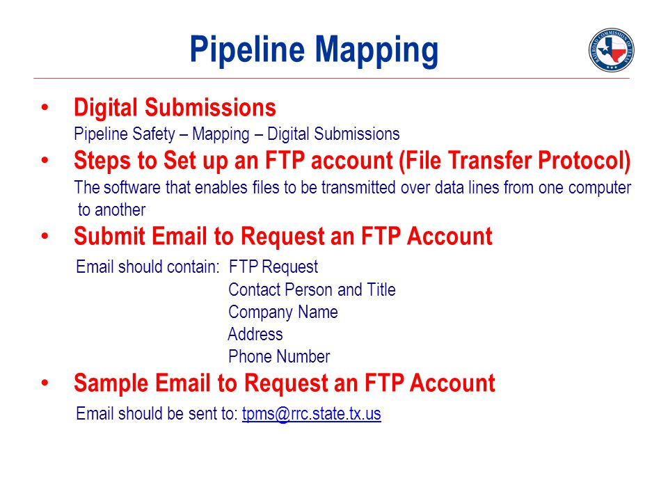 Pipeline Mapping Digital Submissions