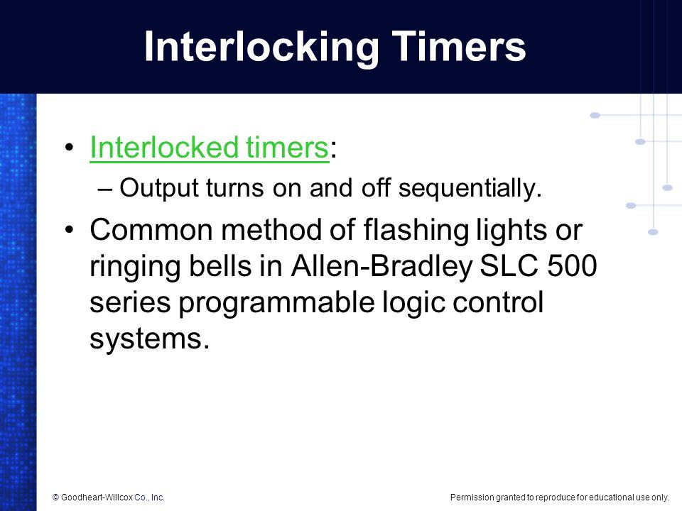 Interlocking Timers Interlocked timers: