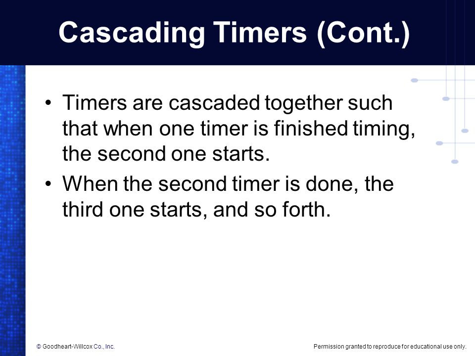 Cascading Timers (Cont.)