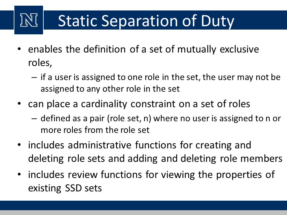 Static Separation of Duty