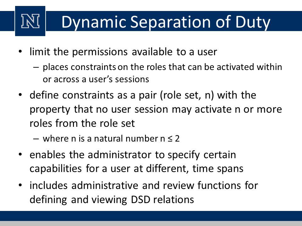 Dynamic Separation of Duty