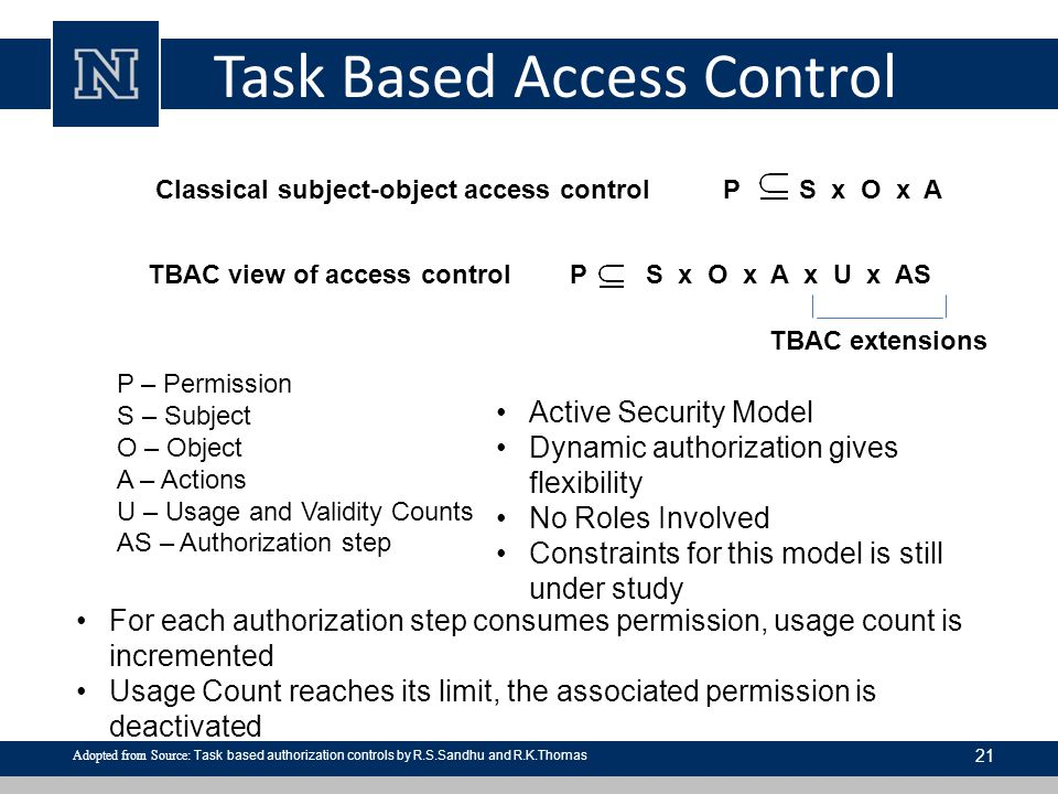 Task Based Access Control