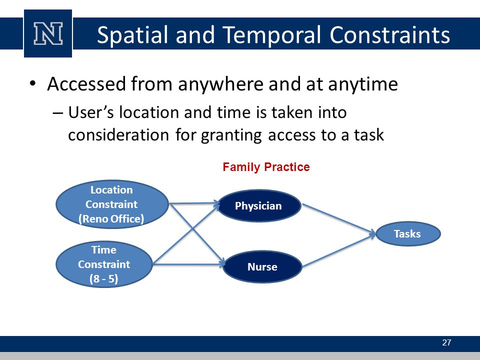 Spatial and Temporal Constraints