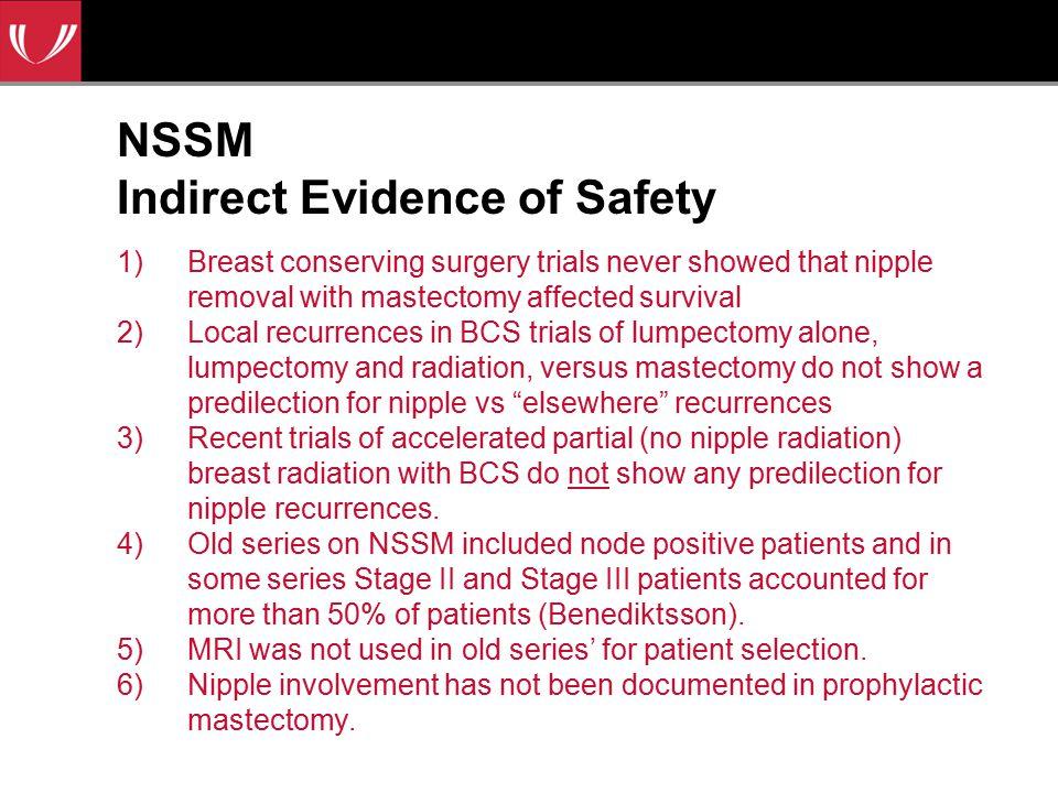 NSSM Indirect Evidence of Safety