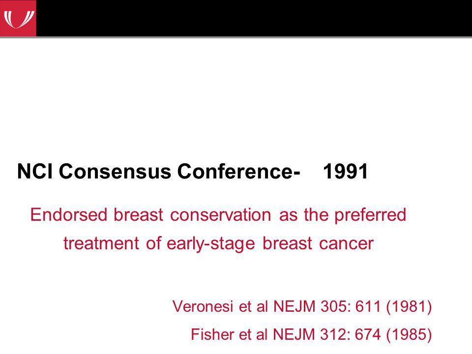 NCI Consensus Conference- 1991