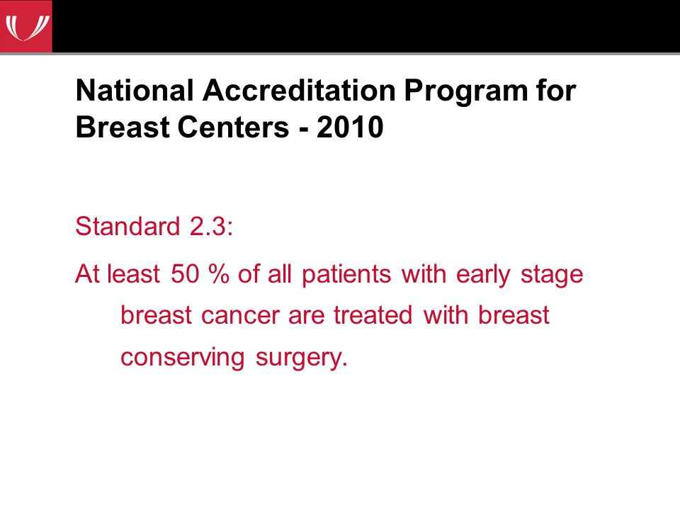 National Accreditation Program for Breast Centers - 2010