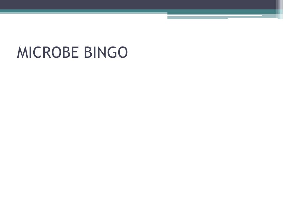 MICROBE BINGO