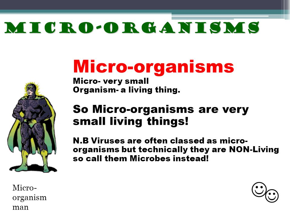 Micro-organisms  Micro-organisms So Micro-organisms are very