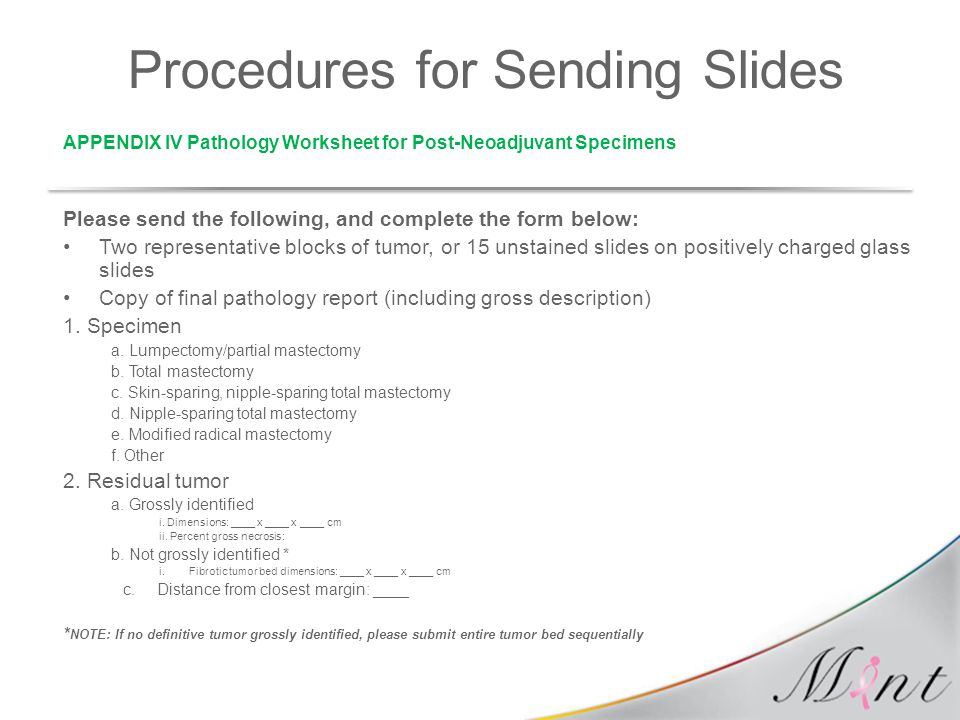 Procedures for Sending Slides