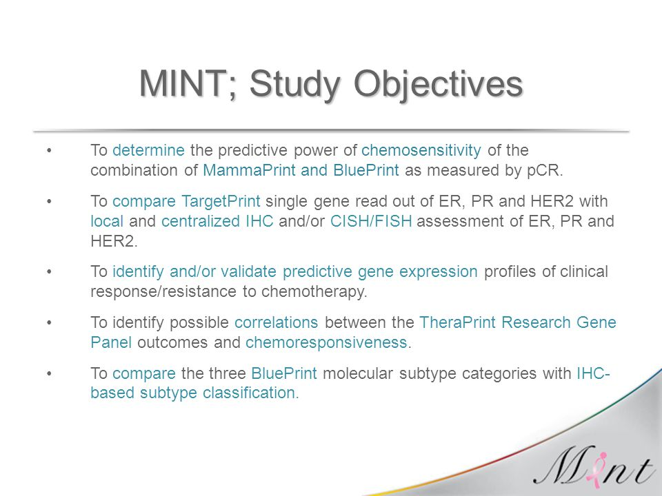 MINT; Study Objectives
