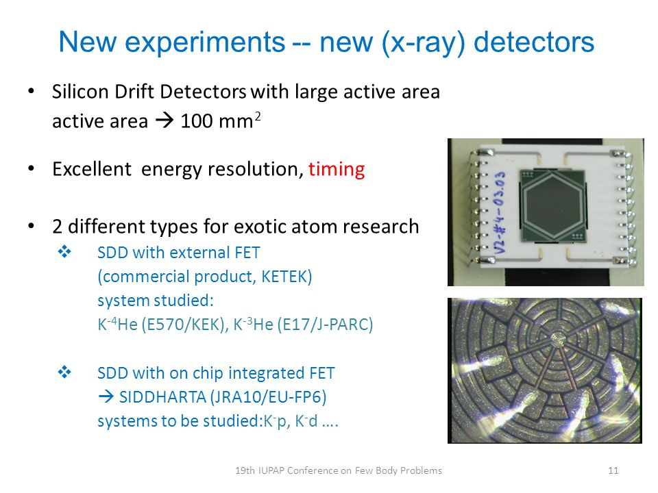 New experiments -- new (x-ray) detectors