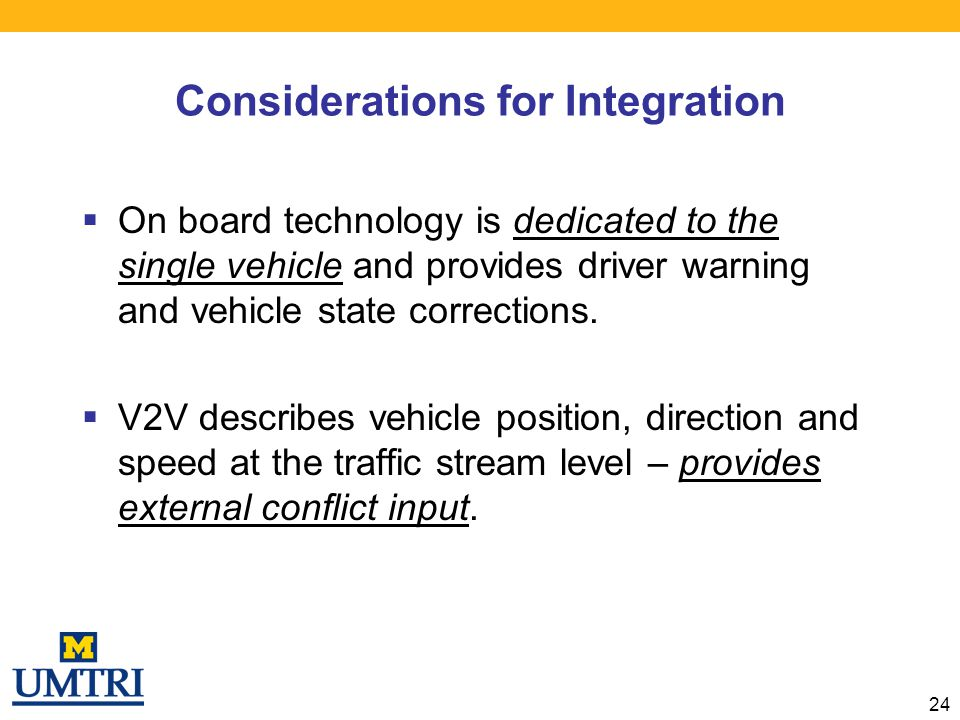 Considerations for Integration