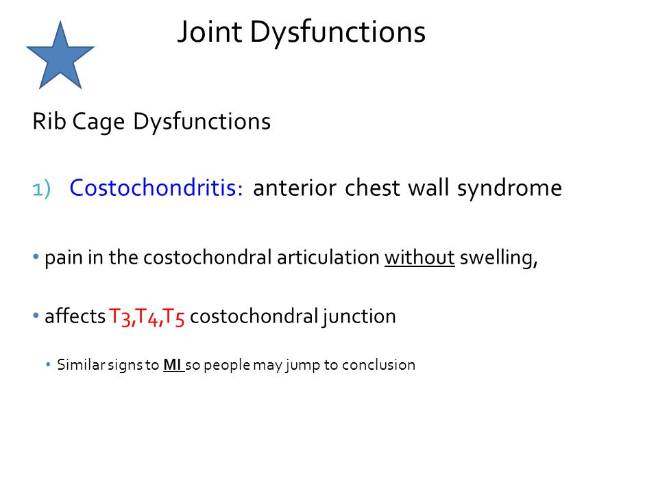 Joint Dysfunctions Rib Cage Dysfunctions