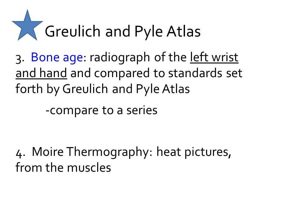 Greulich and Pyle Atlas