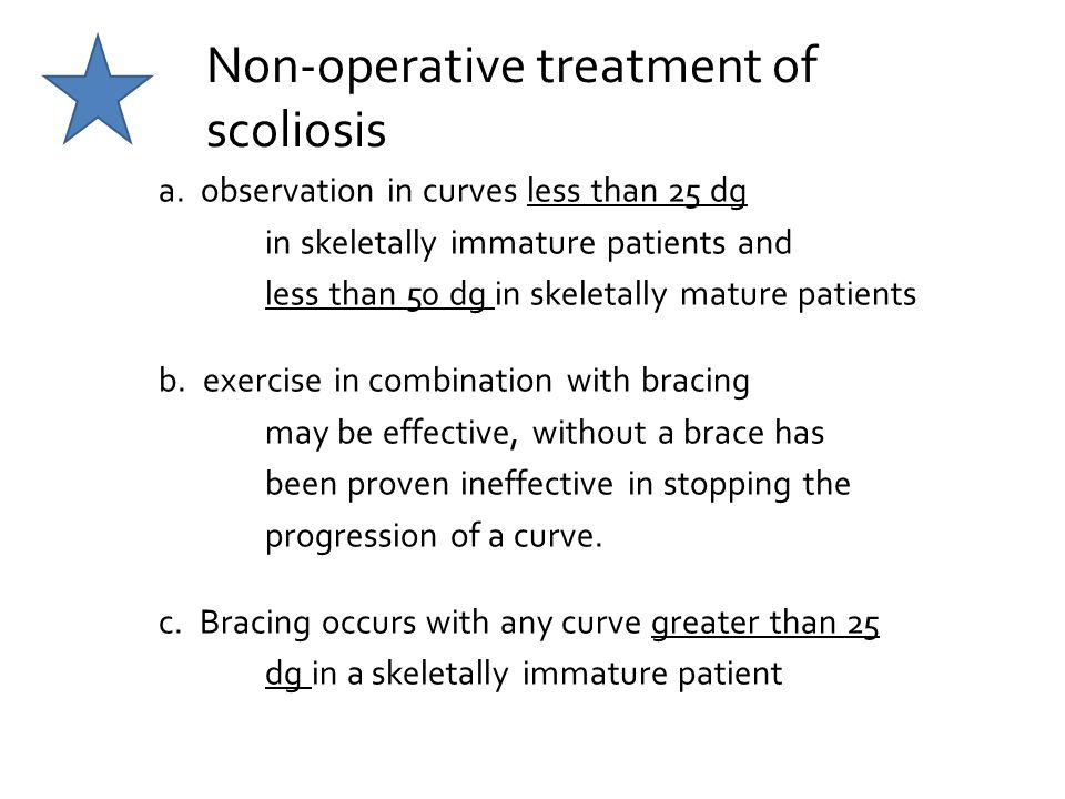 Non-operative treatment of scoliosis