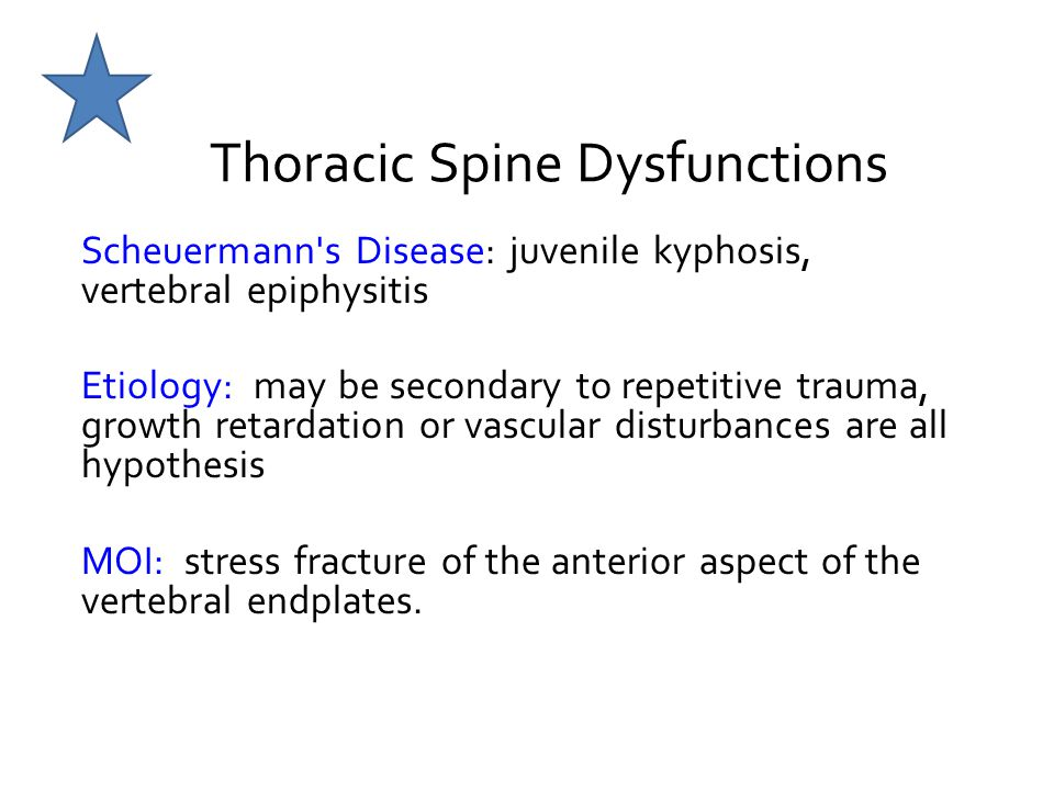 Thoracic Spine Dysfunctions
