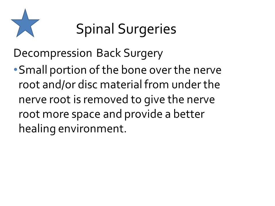 Spinal Surgeries Decompression Back Surgery