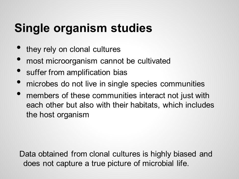 Single organism studies