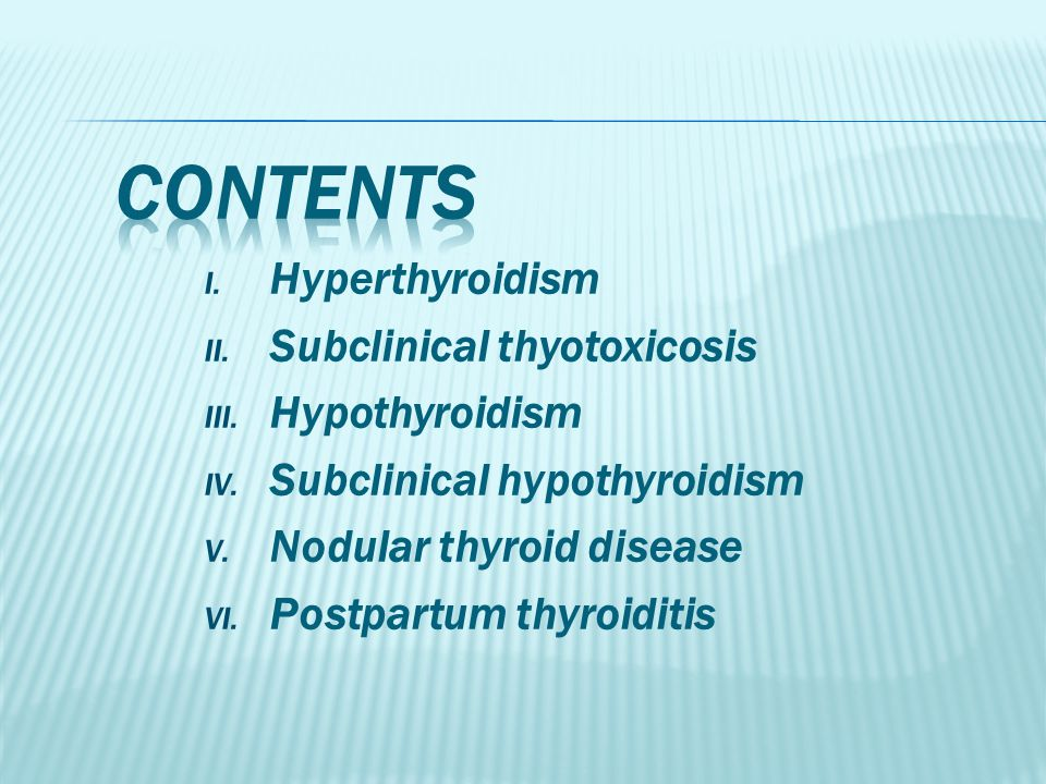 Hypothyroid postpartum
