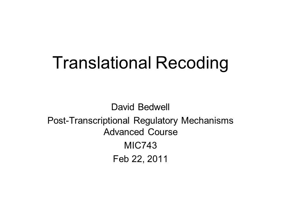 Translational Recoding