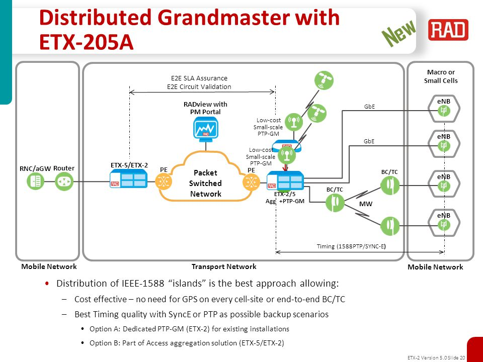 Distributed Grandmaster with ETX-205A