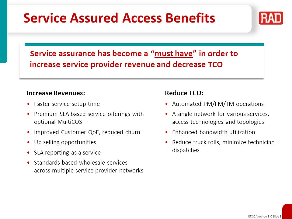 Service Assured Access Benefits