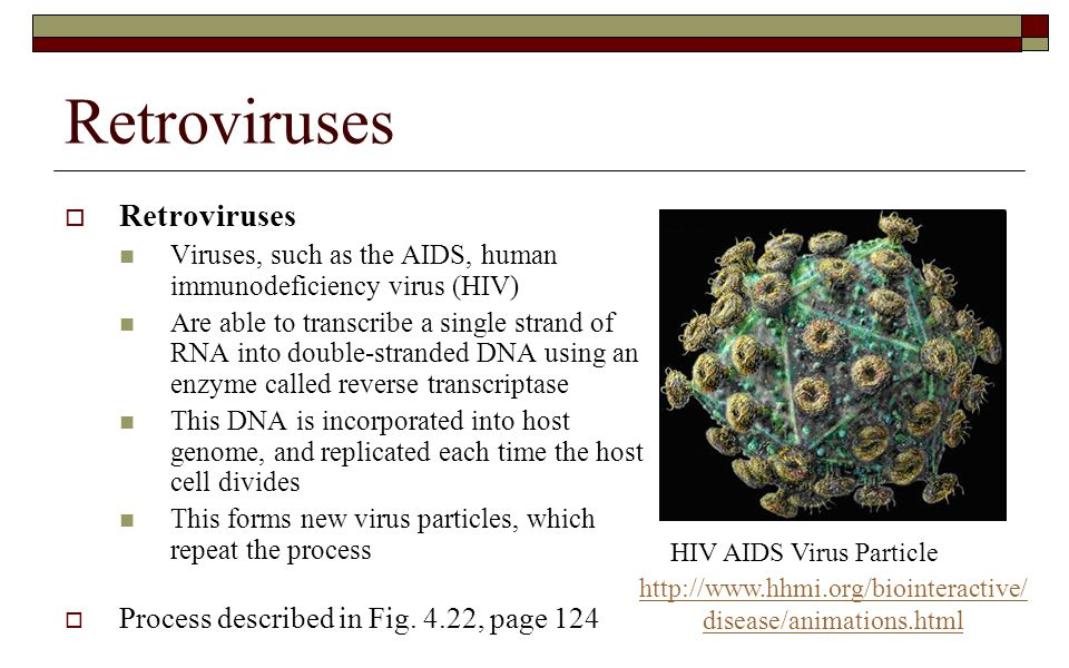 Retroviruses Retroviruses Process described in Fig. 4.22, page 124