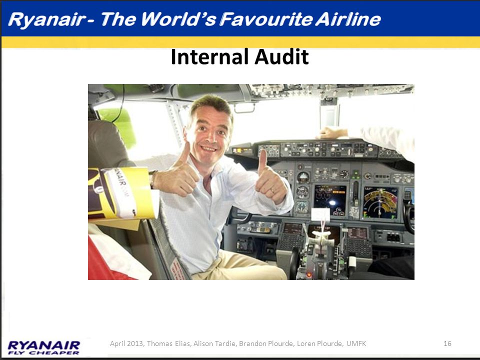 internal audit of ryanair Free academic research on internal audit of ryanair to help you with essays, term papers, research papers, thesis and dissertations.